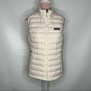 Patagonia Nano white down vest.